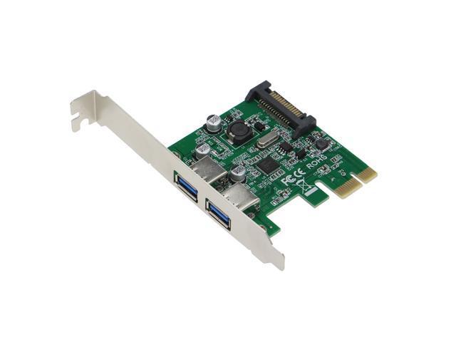 SEDNA - PCI Express 2 Port USB 3.0 Adapter ( NEC / Renesas uPD720202 chipset ), SATA Power Connector