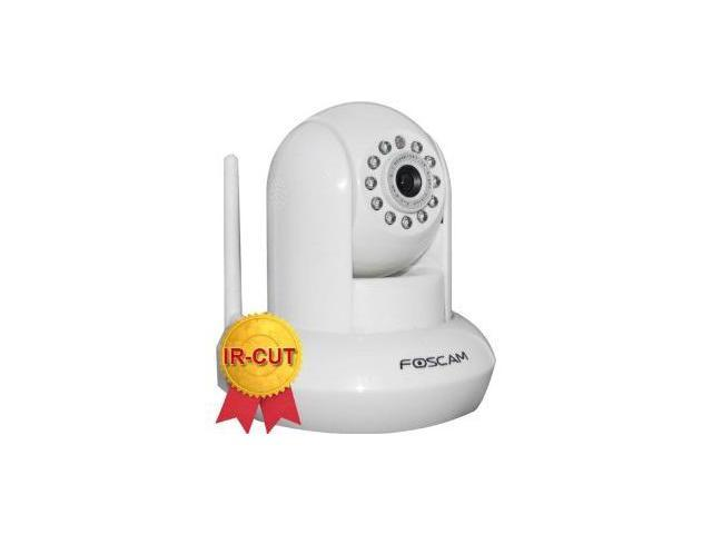Foscam F18910W Wireless/Wired Pan & Tilt 480 TVL Dome-Shaped IP Surveillance Camera w/ IR-Cut Filter (White)