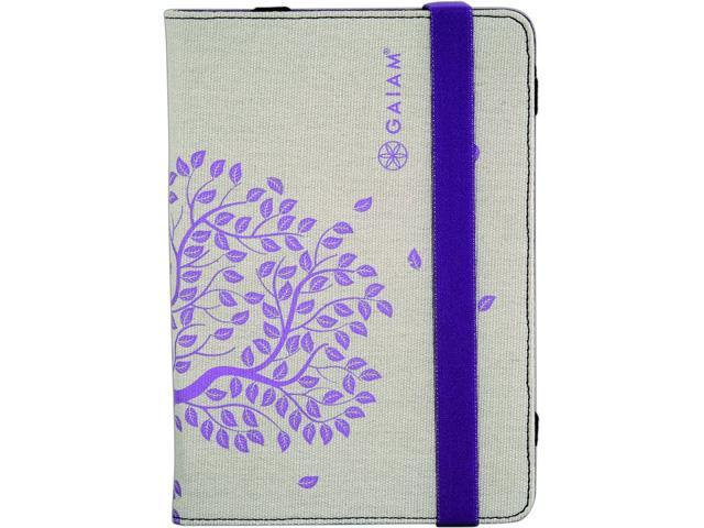 Gaiam Multi-Tilt Canvas Folio Case for iPad 2nd & 3rd Generations - Tree of Life (Purple)