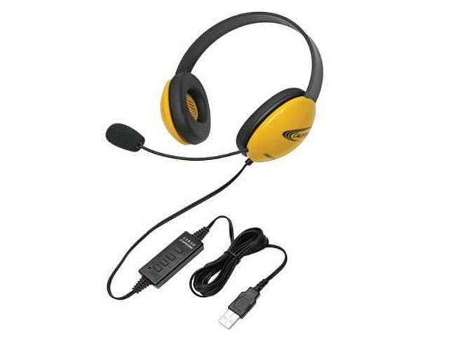 Califone Children's Listening First Stereo Headset with Michrophone and 5.5 straight cord USB