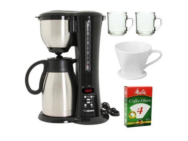Zojirushi EC-BD15 Stainless Steel Coffee Maker w/ Bundle Kit
