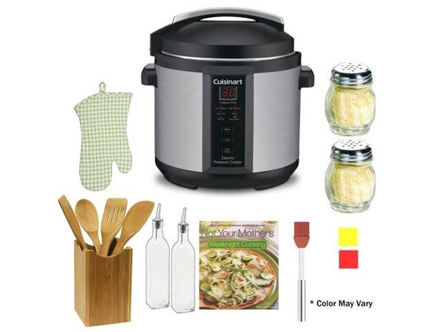 Cuisinart CPC-600 1000W 6qt. Pressure Cooker Refurbished + The Pressure Cooker Gourmet + Accessory Kit