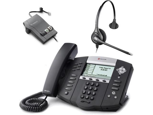 Polycom 2200-12651-001 w/ Amplified Headset VoIP Corded Phone with Included Headset