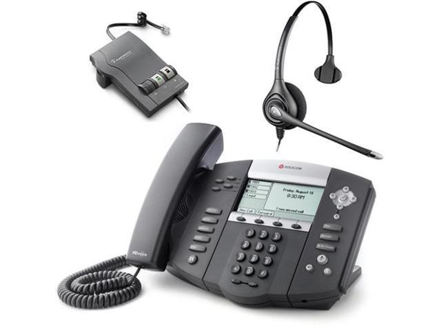 Polycom 2200-12550-001 w/ Amplified Headset VoIP Corded Phone with Included Headset