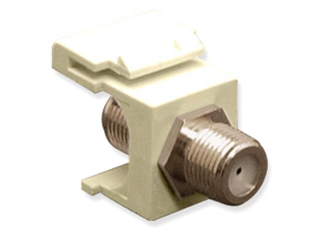 ICC-IC107B5FWH Nickel Plated F Connector Keystone Jack, White