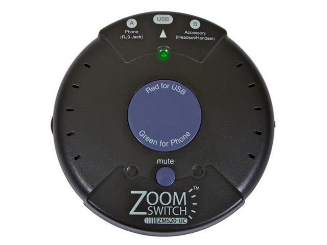 ZOOM ZM-ZMS20-UCM Zoomswitch headset with MUTE