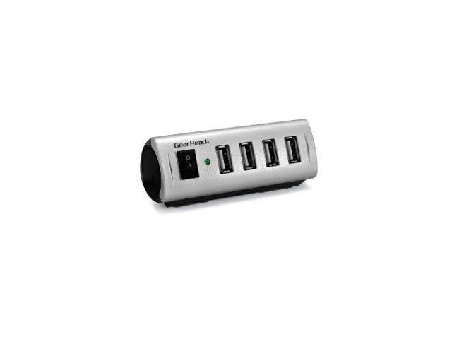 Gear Head GB0973 M Gear Head USB 2.0 4-Port Hub with Energy Saving Switch (AC Powered) (RoHS) (UH5500ESP)