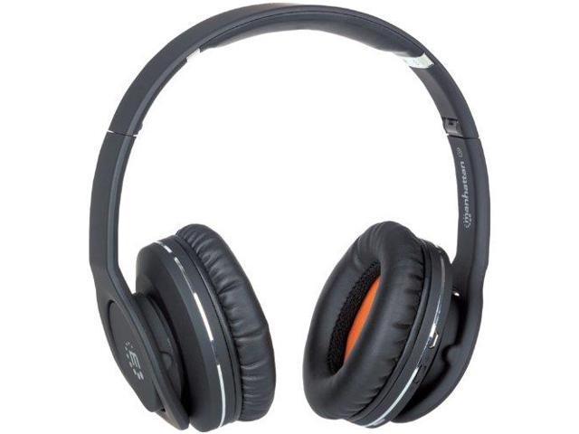 Manhattan Products TQ8150B Fathom Over-Ear Binaural Noise Cancelling Headphones with Bluetooth Technology, Black
