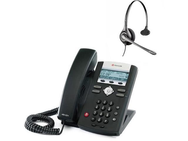 Polycom 2200-12375-001 w/ Amplified Headset VoIP Corded Phone with Included Headset