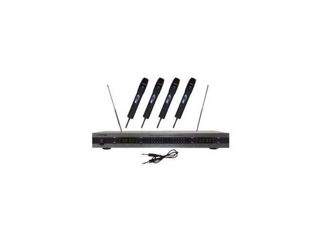 PYLE Audio PYLPDWM5500B VHF Wireless Microphone System with 4 Microphones