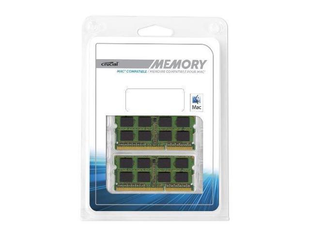 Crucial PV2559M Crucial 8GB Kit 4GB x 2 DDR3 1066 MTs PC3-8500 CL7 SODIMM 204-Pin Mac Memory CT2K4G3S1067M