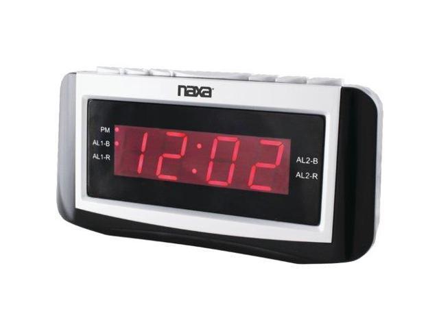 Naxa NAXNRC171M Digital Alarm Clock with Large LED Display
