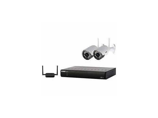 Lorex LORLH024501C2WBM LOREX LH024501C2WB 4-Channel Stratus Cloud DVR & 2 Realtime Wireless Cameras