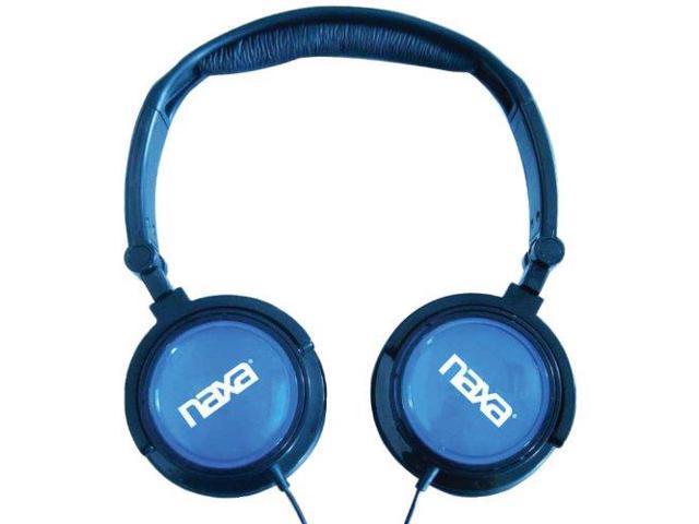 Naxa NAXNE926BLB NAXA Electronics NE-926BL 2-In-1 Combo Super Bass Stereo Headphones and Earphones Blue