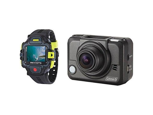 Coleman Cable ELBCX12WPLCDB Coleman Bravo2 1080p Full HD Wi-Fi Helmet and Action Camcorder with Streaming LCD Watch and Mounts