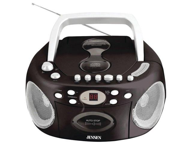 JENSEN JENCD540B Jensen CD540 Portable Stereo Compact Disc Cassette Recorder with AM/FM Radio
