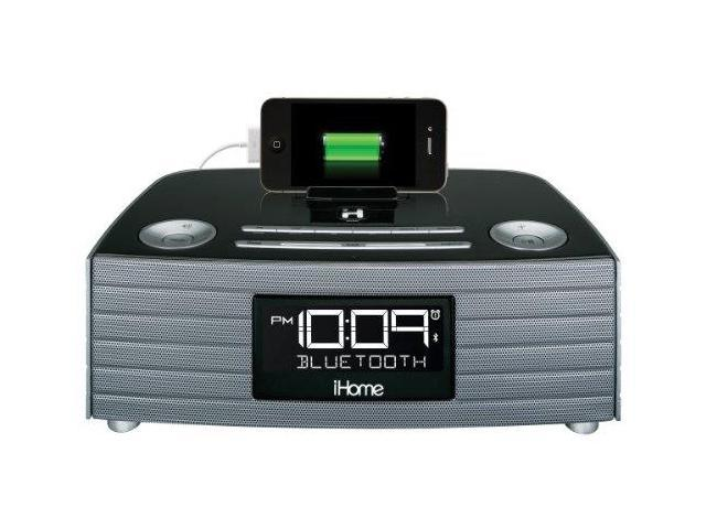 iHome IHMIBN97GCG iHome iBN97GC NFC Bluetooth Stereo FM Clock Radio and Speakerphone with USB Charging