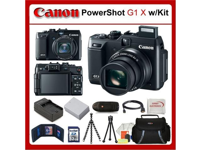 Canon PowerShot G1 X (G1X) Digital Camera Kit Includes: Canon G1 X, Extended Life Battery, Rapid Travel Charger, 32GB SDHC Memory Card, Memory ...