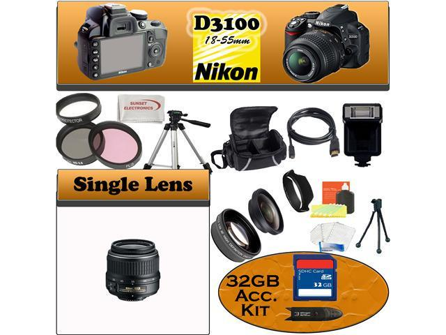 Nikon D3100 SLR Digital Camera with Nikon 18-55m Bundle!!