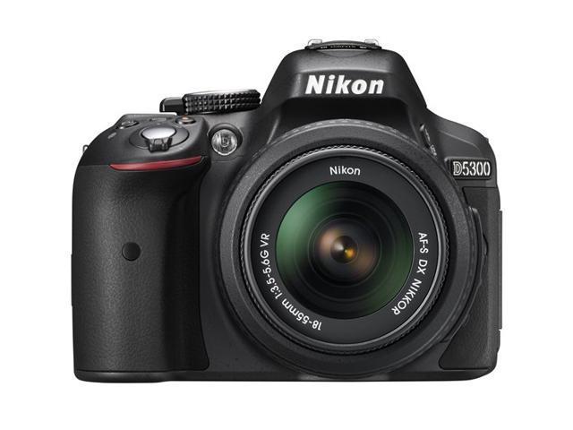 Nikon D5300 13303 Black Digital SLR Camera with 18-55mm Lens