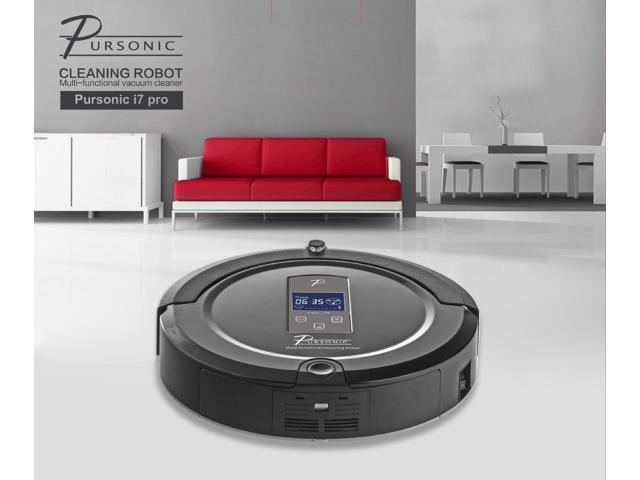 Pursonic i7 PRO Multifunction Autonomous Robotic Vacuum Cleaner with Touch-Screen Controls (Black)