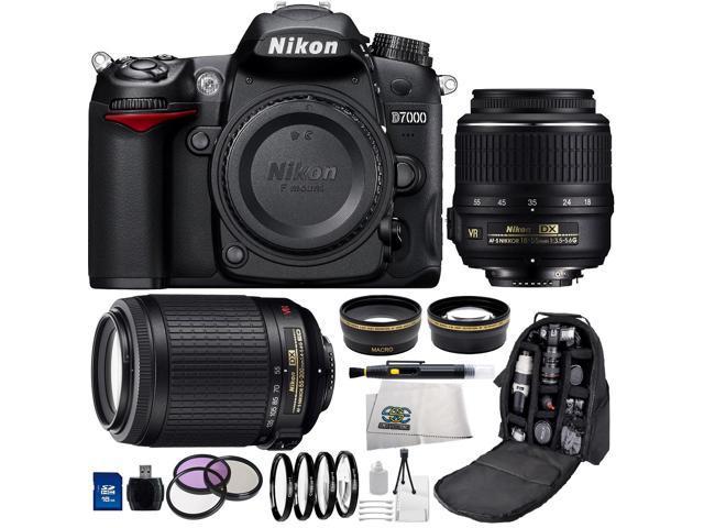 Photo4now DSLR Nikon D7000 16.2MP CMOS Digital SLR Camera with Nikon 18-55mm VR Lens + ...