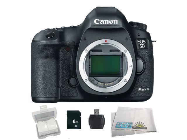 Canon EOS 5D Mark III 22.3MP Full Frame CMOS with 1080P Full-HD Video Mode Digital SLR Camera - Body Only Starter Bundle Kit