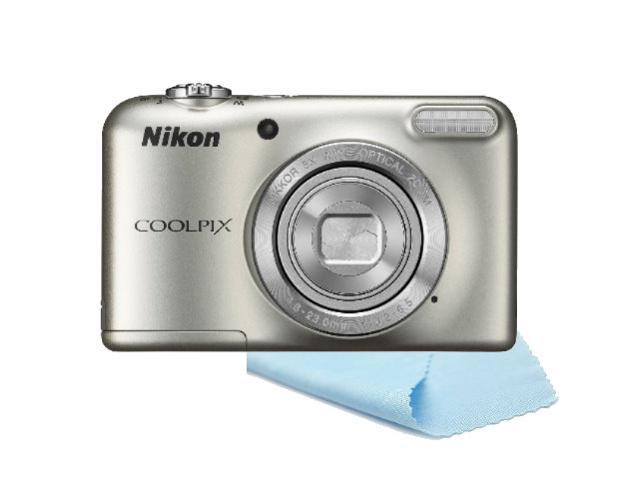 Nikon Coolpix S2800 20.1 MP Point and Shoot Digital Camera - Includes Bonus Microfiber Cleaning Cloth - Silver