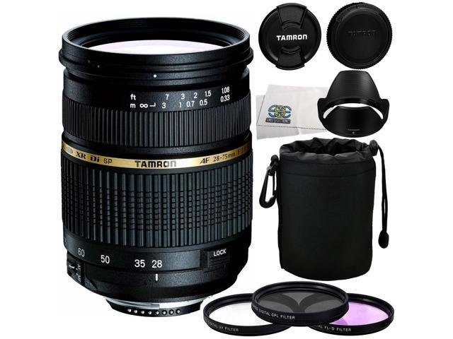 Tamron AF 28-75mm f/2.8 XR Di LD Aspherical (IF) Autofocus Lens for Nikon DSLR + 5 Piece Essentials Accessory Kit