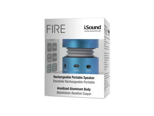 ISOUND Fire Mini Aluminum Rechargeable Portable Speaker for iPod, iPhone, iPad, Smartphone, MP3 Player or Audio Device with a 3.5mm Audio Jack - ...