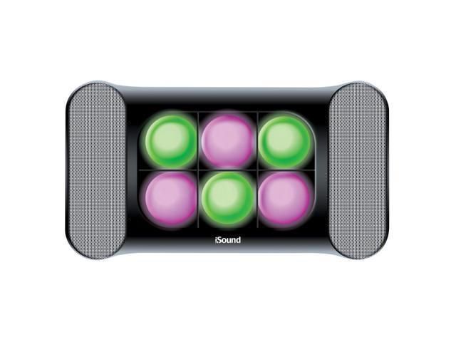 ISOUND iGlowsound Speaker System Dancing Light Speaker for iPod, iPhone, iPad, or Audio Device with a 3.5mm Audio Jack - Black. Model ISOUND-5245