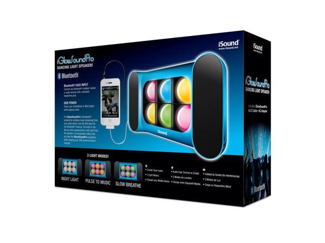 ISOUND iGlowsound Pro Bluetooth Speaker with Dancing Lights & Rechargeable Battery for connecting via Bluetooth or 3.5mm Audio Device - Blue. ...