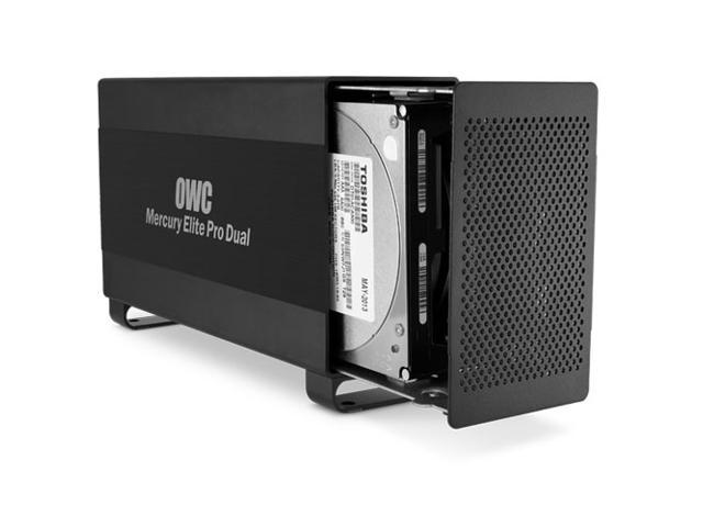 OWC 2TB Mercury Elite Pro Dual USB 3.0 500MB/sec & Thunderbolt 1250MB/sec RAID Storage Solution. 7200RPM w/64MB data buffer. Supports RAID 0, 1, ...