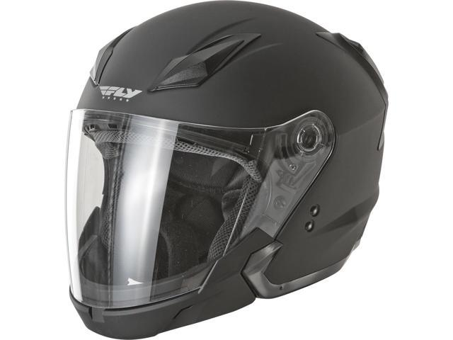 Fly Racing Tourist Solid Motorcycle Helmet Flat Black X-Large F73-8101-5