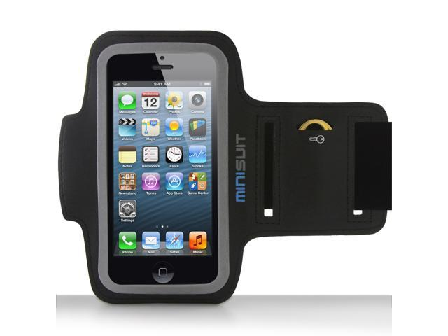 Minisuit SPORTY Armband + Key Holder for iPhone 5/5S/5C, iPod Touch 5 (Black)