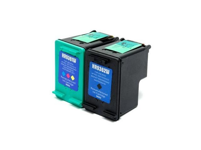 Set of 2 Ink Cartridges for Hewlett Packard (HP) C9362W & C9361W (HP 92 & HP 93) : 1 Black, 1 Color Cartridge After-Market Product ...