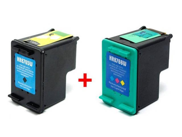 Set of 2 Ink Cartridges for Hewlett Packard (HP) C8765W & C8766W (HP 94 & HP 95) : 1 Black, 1 Color Cartridge After-Market Product ...
