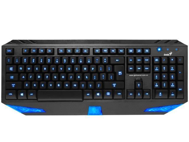 Ergonomic LED Backlit Gaming USB Keyboard PC