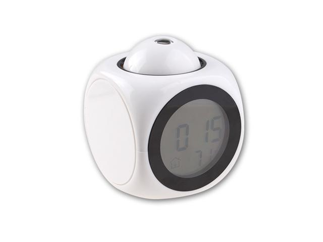 LCD Talking Projection Alarm Clock- Time & Temp Display - Great for Travel!