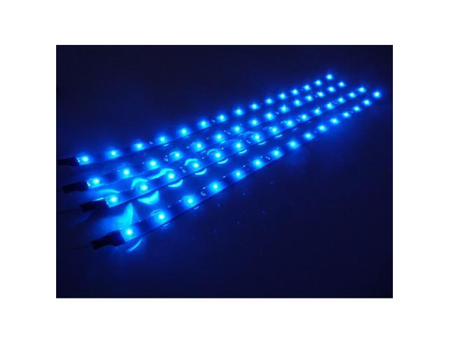 4x30cm LED Car Trunk Flexible Waterproof Light Strip - Blue