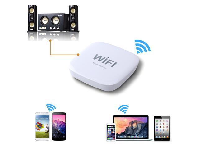 AGPtek WIFI Wireless Bluetooth DLNA Audio Music Receiver for iOS Android Music Box turns any speaker into wifi wireless