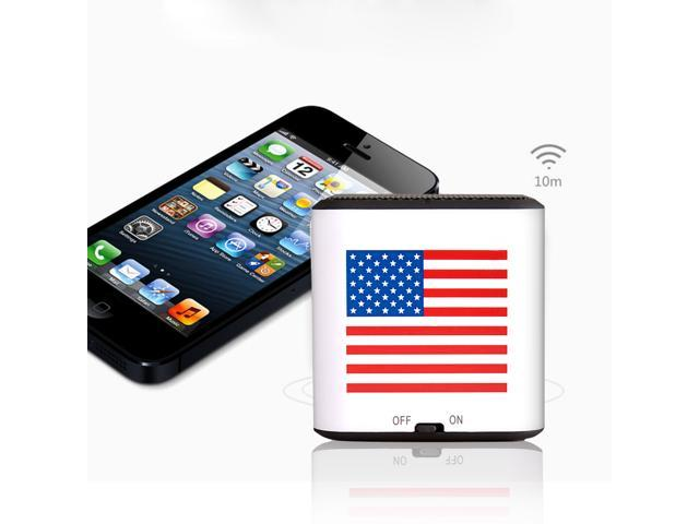 AGPTEK® American Flag Mini Portable Wireless Bluetooth Speaker, CSR 4.0 Chipset, Built-in Mic, Pocket Size, Enhanced Bass Resonator, Powerful ...