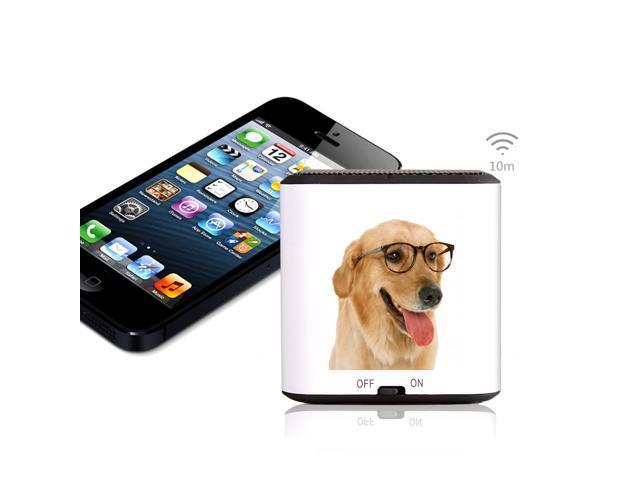 AGPTEK® The Golden Retriever Dog Mini Portable Wireless Bluetooth Speaker, CSR 4.0 Chipset, Built-in Mic, Pocket Size, Enhanced Bass Resonator, ...