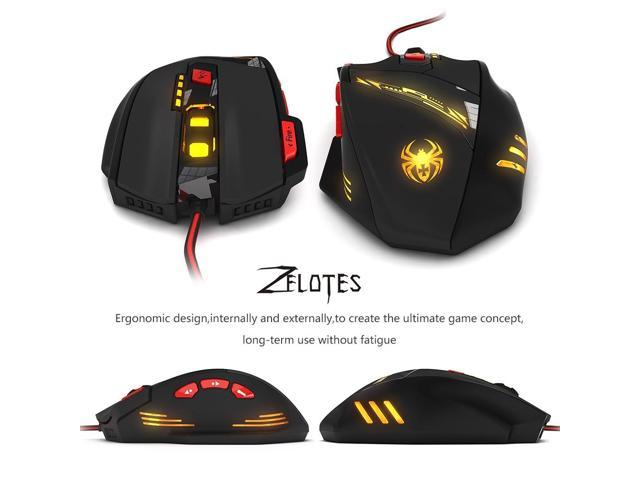 4e00dc91897 ZELOTES PC000208 Zelotes T90 USB Wired Gaming Mouse 1000/1600/2400 ...