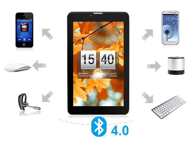 "Kocaso M776 7"" Capacitive Tablet PC - Dual-Core Android 4.1 Dual Camera Bluetooth 4.0 HDMI 3G 2G Phone Call Dual SIM Card-White at Sears.com"