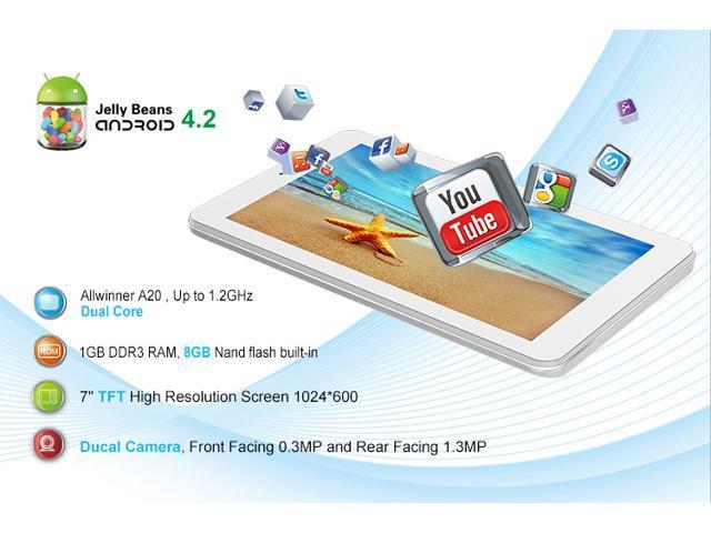 KOCASO M770 Dual-Core Dual Camera 8GB HDMI TFT Android 4.2 7