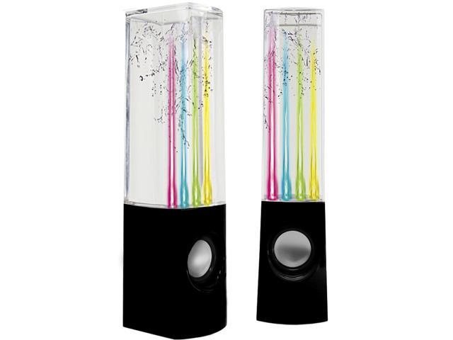 Water Dancing Mini USB Speakers - LED Light Music Show for PC Laptop MP3 PSP iPhone
