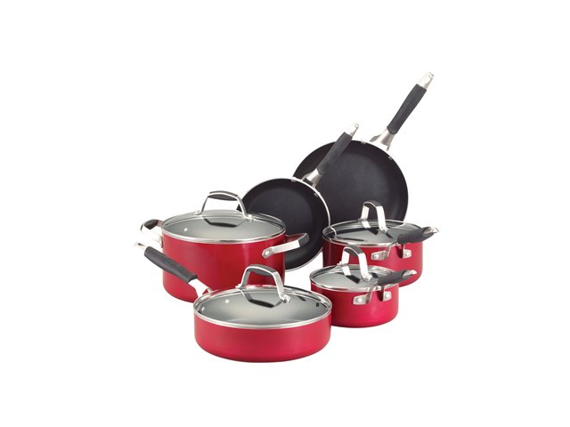 Guy Fieri 10-pc. Nonstick Cookware Set, Hot Rod Red