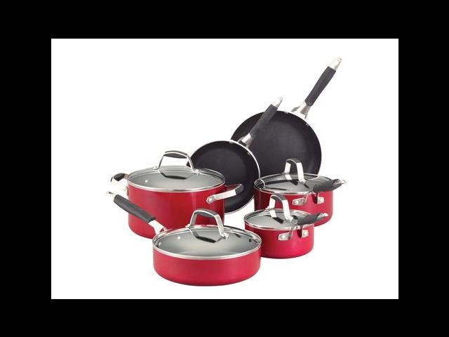 Guy Fieri 10-pc. Nonstick Cookware Set, Hot Rod Red