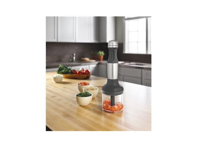KitchenAid KHB2351CU Contour Silver 3-Cup Jar Size 3-Speed Hand Blender 3 speeds